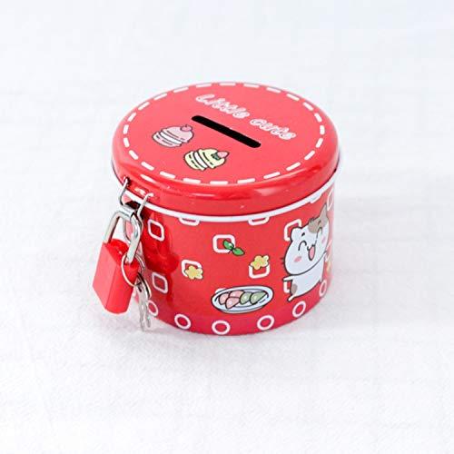 Section C Cadeau Intelligent pour Les Enfants Lizes Fun /à /économiser de largent Boutique Dollar Cylindre Tirelire Premium Tinplate Argent Banque Cadeau Enfant