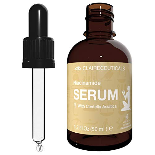 CLAIRECEUTICALS Niacinamide Serum zur natürlichen Gesichtspflege und Hautpflege mit Vitamin B3, Niaciamide 5%, Anti-Aging Wirkung zur rreduzierung von Falten und Akne - Feuchtigkeitsserum - 50ml
