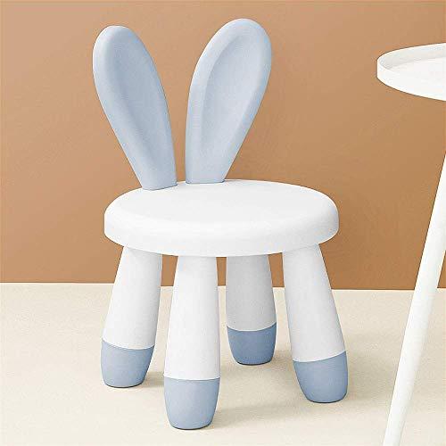 WRISCG Moderne minimalistische Kinder Lernen zu Hause Stuhl kann zerlegt Werden Kindergarten Cartoon Schreibhocker Kindersicherheit Kunststoff Rutschfester Stuhl (Farbe: Blau)