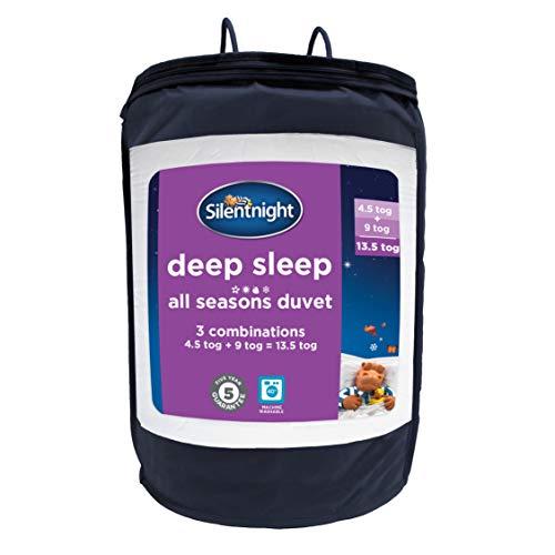 Silentnight Deep Sleep All Seasons Duvet, 4.5 + 9 tog, Single, White, 135 x 200cm