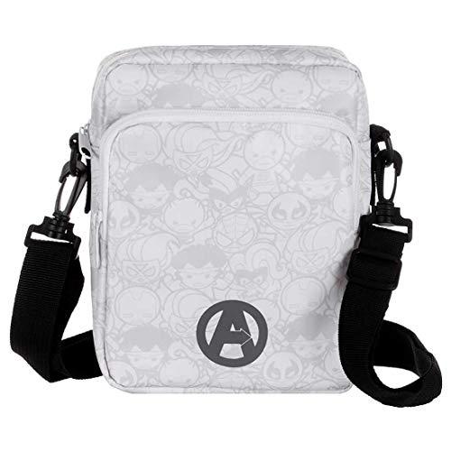 marvel avengers messenger bags MINISO Marvel Crossbody Bag Party Sling Bag for Woman, Men, Boys & Girls Stylish Trendy Bag, White Black