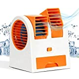 Super Mini Fan Air Cooler with Water Tray Portable Desktop Dual Blade-Less Air Cooler USB New Fan Cooler