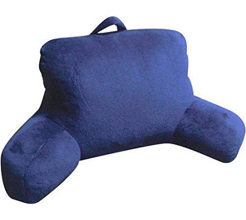 Mainstays Micro Mink Plush Bedrest Pillow Lounger Support Backrest Polyester New:Indigo Essence