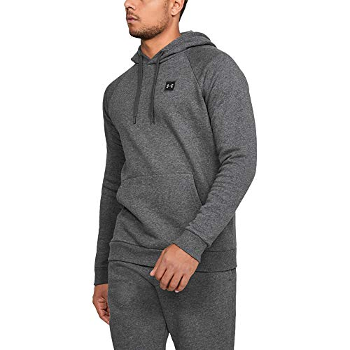 Under Armour Men's Rival Fleece Pullover Hoodie, Grey (Charcoal Light Heath/Black), Small