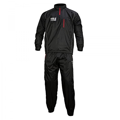 Title Platinum Prevail Rubberized Sauna Suit Black Medium