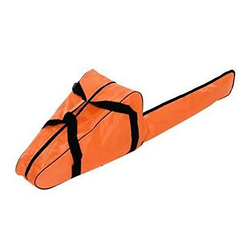Bolsa Transporte Motosierra Bolsa Tela Oxford Impermeable Motosierra Soporte Almacenamiento con Correas Largas Asa Cremallera Portátil para Stihl Husqvarna 12/14/16 Pulgadas Motosierra (Orange)