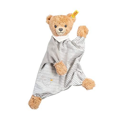 Steiff Schlaf-gut-Bär Schmusetuch - 30 cm - Kuscheltier für Babys - weich & waschbar - grau (239915)