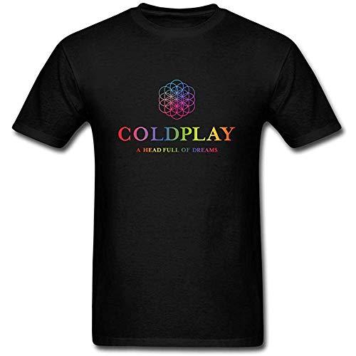 NR Qp6ker Veblen Men's Coldplay Design Cotton T T-Shirt Gr. XL, Schwarz