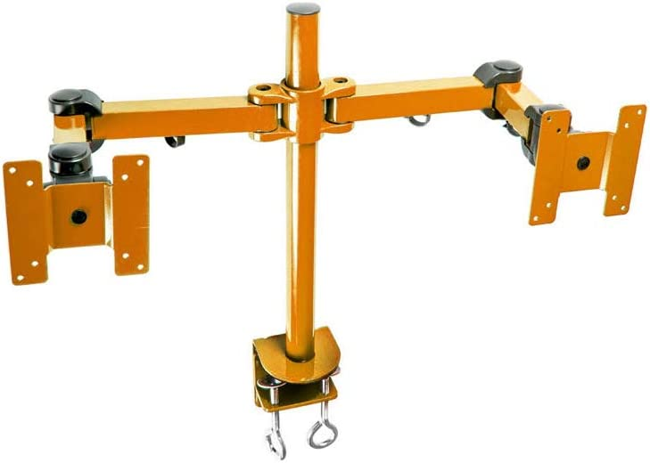 MonMount Dual LCD Monitor Stand Desk Clamp Holds Up to 24-Inch LCD Monitors, Orange (LCD-194O)