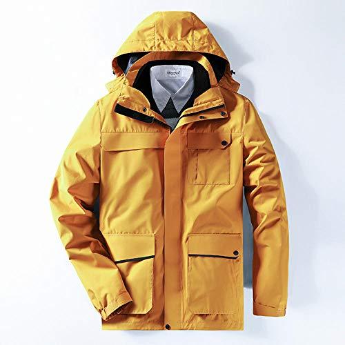 Herren Winter Skijacke,Outdoor Verdickt Softshelljacke,Outdoor-Jacke DREI in einem abnehmbaren Plus samtgepolsterten Skianzug-Male H_M #