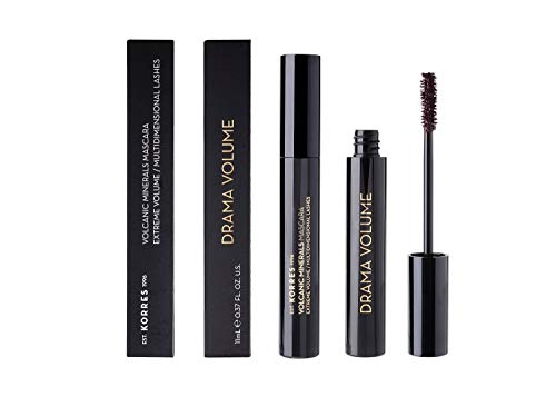 Korres Black Volcanic Minerals Drama Volume Mascara , 02 Plum Brown, 1er Pack (1 x 11 ml)