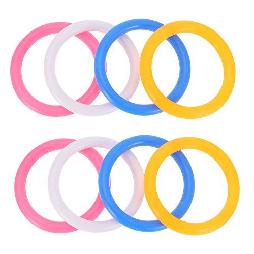 BESPORTBLE 100 Pzas Anillos de Plástico Anillos de Carnaval Anillos de Lanzamiento Anillos de Gimnasia Jardín Patio Trasero Juguetes Al Aire Libre para Y Juegos de Práctica de Agility 4Cm