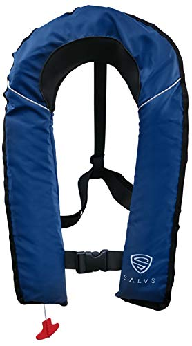 SALVS Automatic Inflatable Life Jacket for Adults | PFD for Fishing, Kayaking, Sailing | Life Vest for Men & Women | Navy Blue