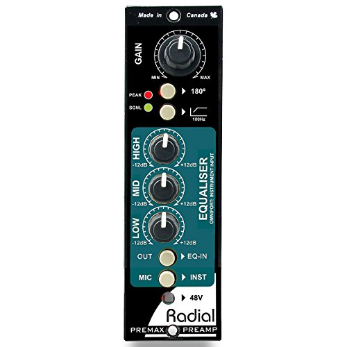 RADIAL Premax Ecualizer serie 500 y preamplificador de micrófono modular