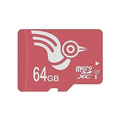 ADROITLARK Tarjeta Micro SD de Alta Velocidad de 64GB Tarjeta microSD U3 de Clase 10 Tarjeta de Memoria para Video 4K / Teléfonos/Tableta (U3 64GB)