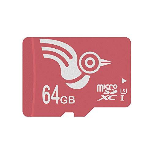 ADROITLARK Scheda Micro SD 64 gb Classe 10 UHS-I Scheda di Memoria SD per 4K Video / Telefoni / Laptop / Tablet (U3 64GB)
