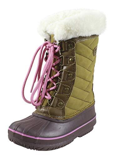 LONDON FOG Mädchen Beckenham Schneestiefel für kaltes Wetter, Braun (hautfarben), 31
