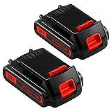 2Packs LBXR20 20 Volt 3.0Ah Replacement Battery Compatible with Black and Decker 20V Lithium Battery Max LB20 LBX20 LST220 LBXR2020-OPE LBXR20B-2 LB2X4020 Cordless Tool Batteries
