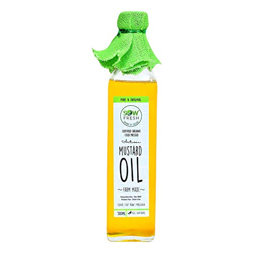 Sow Fresh Grown By Nature Organic Cold Pressed Organic Mustard Oil, 500 Ml