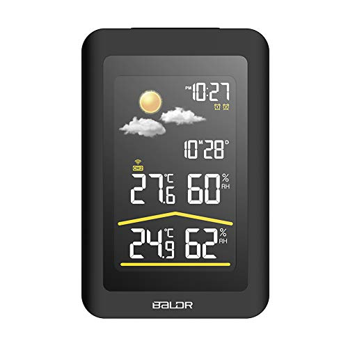 junfeng Cartoon wecker Drahtlose Indoor Outdoor Wetterstation Uhr Luftdruck mit Sender