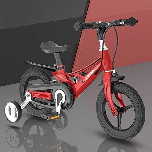 Bicicleta LJR 14 Pulgadas de Bicicleta para niños con Ruedas auxiliares, tamaño: 14 Pulgadas (Color : Tango Red)