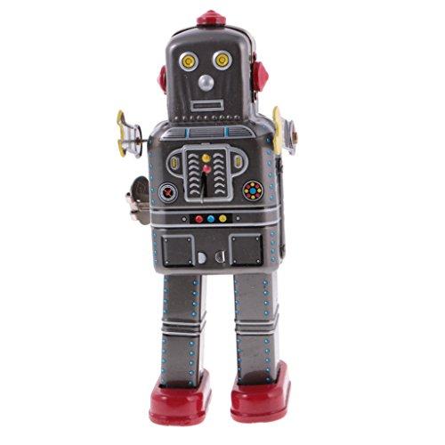 perfeclan Retro Windup Toys Robot Metal Tin Clockwork Toys Spaceman Figuras Colección Novedad, Divertido Y Atractivo