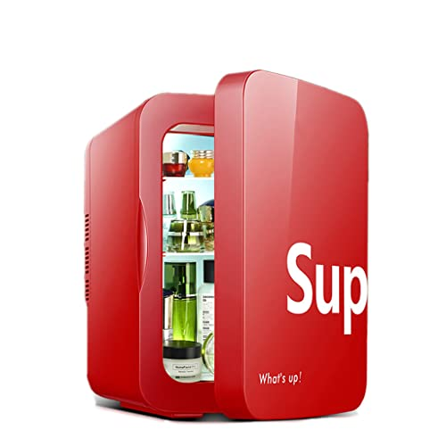 huasa Mini Nevera 22L / 30 Latas de Refrescos, Portátil Mini Refrigerador 110-220V/12V para Enfriar y Calentar,2 en 1 Mini Refrigerador para Hogar, Oficio, Coche, Alimentos, Cosmeticos y Bebidas,Red
