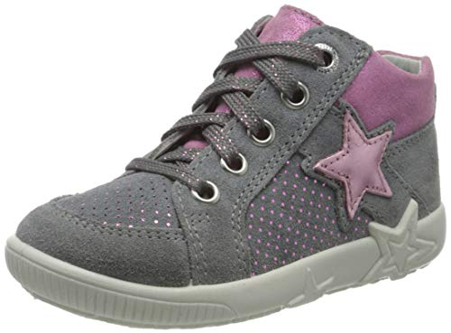 Superfit Baby Mädchen Starlight  Lauflernschuhe Sneaker,  Grau (Hellgrau/Rosa 25),  25 EU