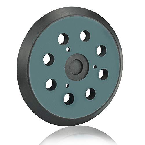 KLYNGTSK Plato de Velcro 125mm con 8 Agujeros Discos Lijadora Orbital de PU Almohadilla de Respaldo para Lijadora de Pluido para Makita BO5010/K, DeWalt DW420/420K, Cable Porter 390/390K