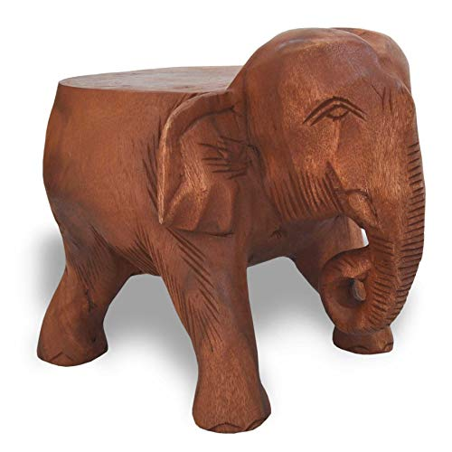 Wilai Beistelltisch Elefant Podest Blumenständer Hocker Wohnzimmer Holztisch