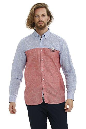 GALVANNI Anchor Camisa Casual, Rojo (Chili Pepper Multi 8048), Small (Tamaño del Fabricante:S) para Hombre