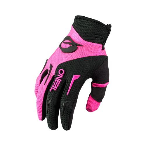 O'NEAL | Fahrrad- & Motocross-Handschuhe | MX MTB DH FR Downhill Freeride | Langlebige, Flexible Materialien, belüftete Handinnenfäche | Women's Element Glove | Damen | Schwarz Pink | Größe S