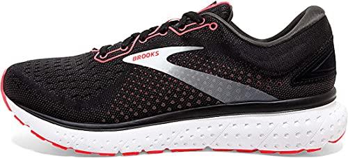 Brooks Womens Glycerin 18 Running Shoe - Black/Coral/White - B - 7.5