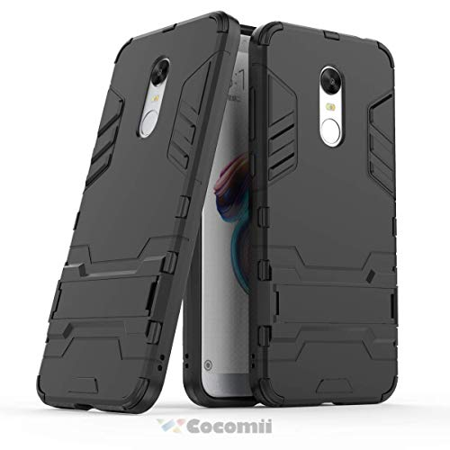 Cocomii Iron Man Armor Xiaomi Redmi Note 5/Redmi 5 Plus Case, Slim Thin Matte Vertical & Horizontal Kickstand Reinforced Drop Protection Bumper Cover for Xiaomi Redmi Note 5/Redmi 5 Plus (Jet Black)