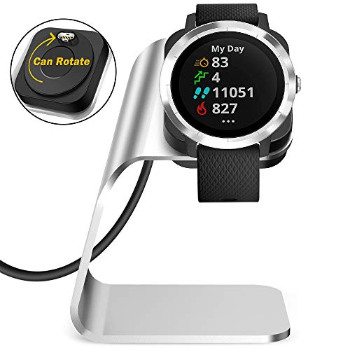 QIBOX Vivoactive 3 Charger Stand, Replacement USB Charging Dock Cable Compatible with Garmin Vivoactive 3 GPS Smartwatch (ONLY for Vivoactive 3 Smartwatch)