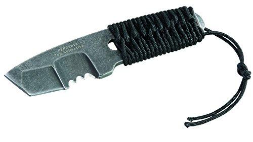 Herbertz - Top Collection Unisex Adult Neck-Knife, Aisi 440-stahl, Tanto-Klinge Messer, grau, M