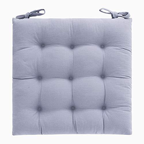 ZMIN vierkant verdikt zitkussen, niet-slip katoen zitkussen zitkussen met stropdas warm zacht vloerkussen kussen voor tatami bay raam keuken Office Student