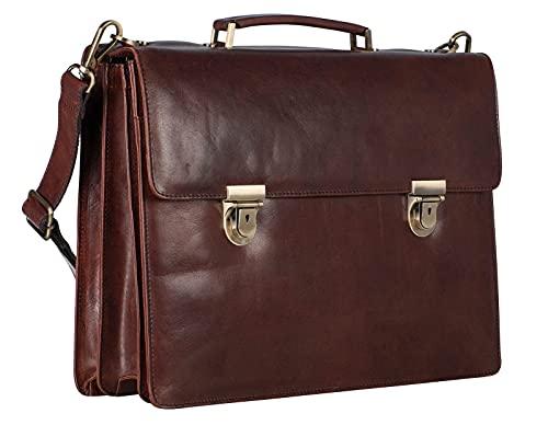 Leonhard Heyden Cambridge 15'' Serviette compartiment pour ordinateur portable rouge brun