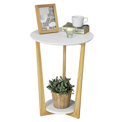 SoBuy® FBT52-WN Table Basse Ronde Guéridon Table dAppoint Table Café - 3 Pieds