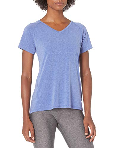 Amazon Essentials Studio Short-Sleeve Lightweight V-Neck T-Shirt Camiseta, Brillo Azul Brezo, L