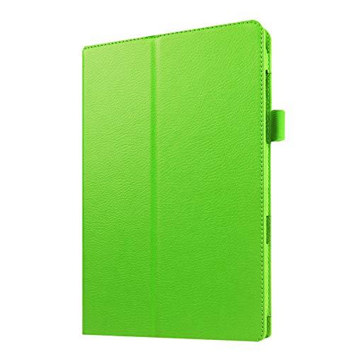Hannuo Funda Protectora de Cuero PU para Samsung Galaxy Tab A6 7.0 T280 T285 SM-T280 SM-T285 Tablet PC Business Flip Stand Shell Funda-Verde