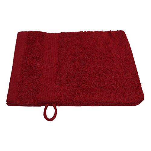 Gant de toilette Julie Julsen - Doux et absorbant - Certifié Oeko-Tex - 500 g/m² - 15 x 21 cm - Disponible en 23 couleurs, Coton, rouge, 15 cm x 21 cm