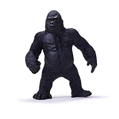 RECUR Giocattoli in Piedi Gorilla King Kong Giocattoli Animali Giocattoli Animali per Bambini, realistici Gorilla Occidentali Figurine Replica per Collezionisti 3+