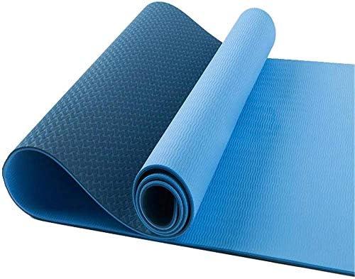 Antislip yogamatten Lichtgewicht materiaal voor yoga pilates en vloeroefeningen Stretching Home Gym Workout
