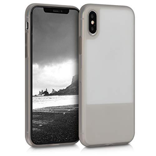 kwmobile Cover Slim Case Protettiva gommata - Back Cover Rigida Antiscivolo Compatibile con Smartphone Apple iPhone X/XS