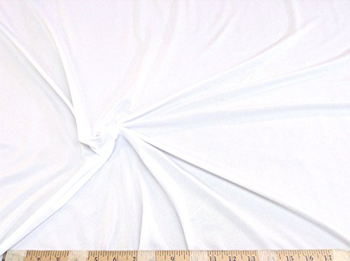 Discount Fabric Light Weight Swimwear Lining 4 way stretch White LY786