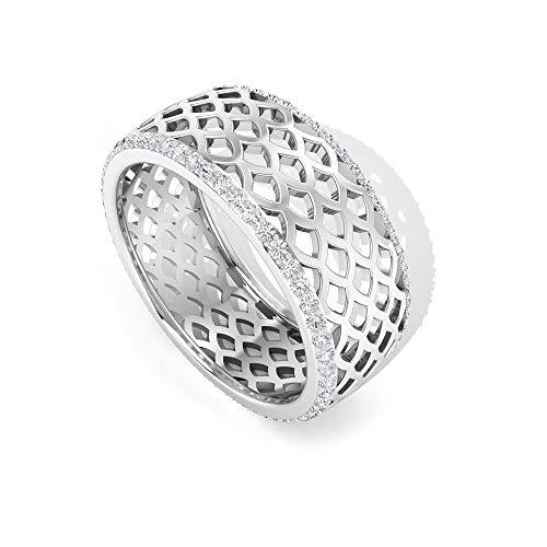 Anillo de diamantes con certificado SGL de 0,55 ct, vintage, con claridad de color HI-SI, anillo de promesa de aniversario, 14K Oro
