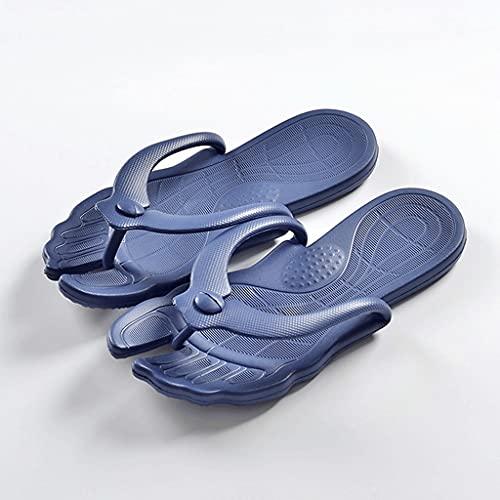 HOTRA Unisex Staccabile Viaggio Pantofole, Portatile Pieghevole Bagno Antiscivolo Coppia Spiaggia Infradito Sandali E Pantofole, Con Supporto Arco (Colore: Blu scuro, Taglia : 35-36EUR)