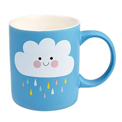 "Rex London Kaffeebecher ""Happy Cloud Mug"" aus Keramik 350ml, mit Blauer Wolke Motiv (Becher, Tasse)"