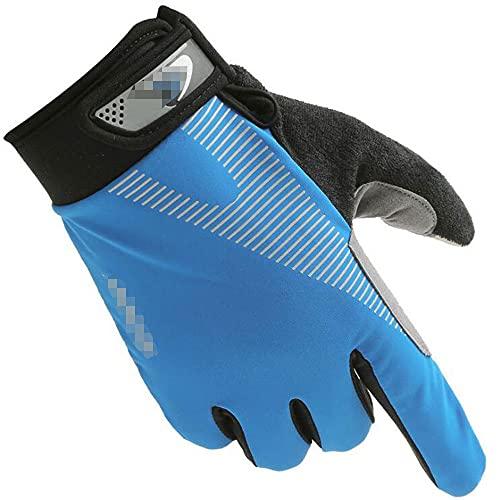 Guantes de ciclismo, todos los dedos, guantes de bicicleta, pantalla táctil, palma de silicona antideslizante, transpirable, MTB, bicicleta de carretera, mitón para hombres / mujeres, apto para levant